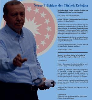 Zur Präsidentschaftswahl: eine Seite für Erdogan in Regensburg Haber.