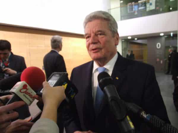 """Joachim Gauck: """"Scham und Schmerz"""", aber keine Entschädigung. Foto: Archiv/ Haslbeck"""