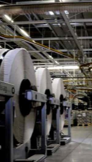 Ein hochmodenes Druckzentrum und immer mehr Sparmaßnahmen auf dem Rücken der Beschäftigten: der MZ-Verlag. Foto: Archiv/ as