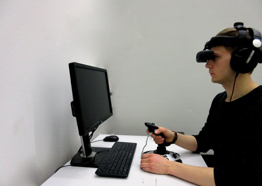 Expositionstherapie in der virtuellen Realität. Foto: Universität Regensburg