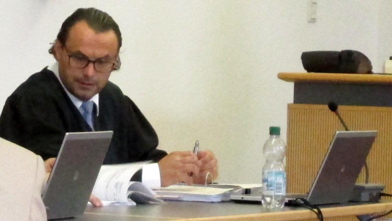Im Clinch mit Richter Pfeiffer: Jörg Sodan.