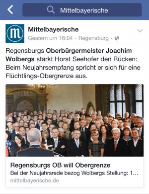 Eigenwillige MZ-Interpreation auf Facebook.