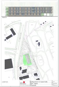 Lageplan der Unterkunft. Zum Vergrößern anklicken. Plan: Stadt Regensburg