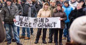 Demonstration von Russlanddeutschen am 24. Januar.