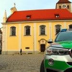 Polizeischutz für die Gebetsvigil in der Stiftskirche St. Johann. Fotos: Mathias Roth