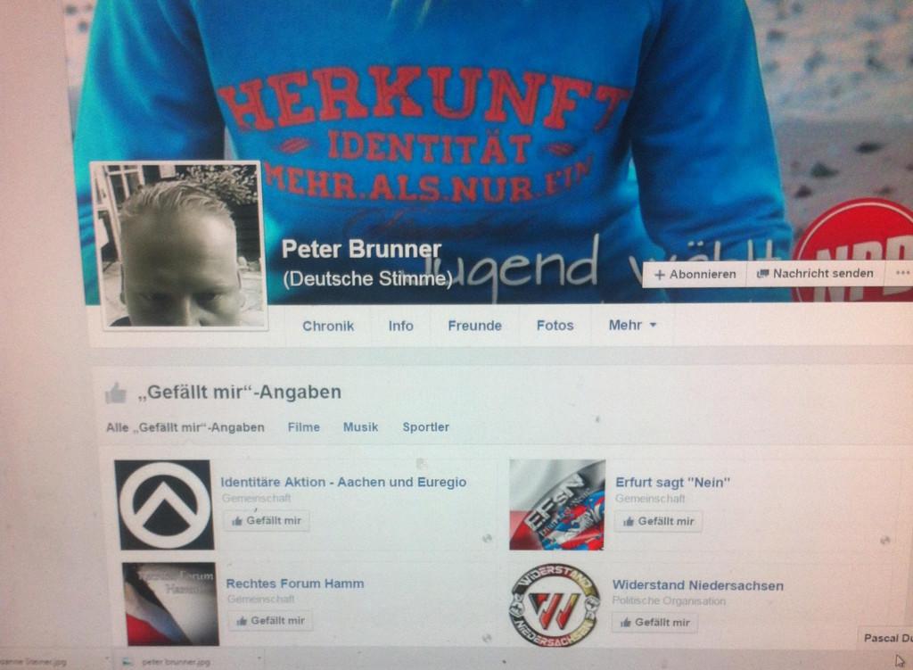 """Bekennender Rassist: Peter Brunner, der Verantwortliche von """"Echo Kelheim""""."""