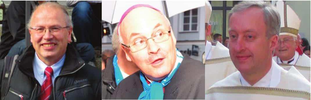 Die Vertuscher und Verschleierer Clemens Neck (li.) und Michael Fuchs (re.) hält Bischof Voderholzer weiter im Amt. Fotos: Archiv/ Aigner/ Staudinger