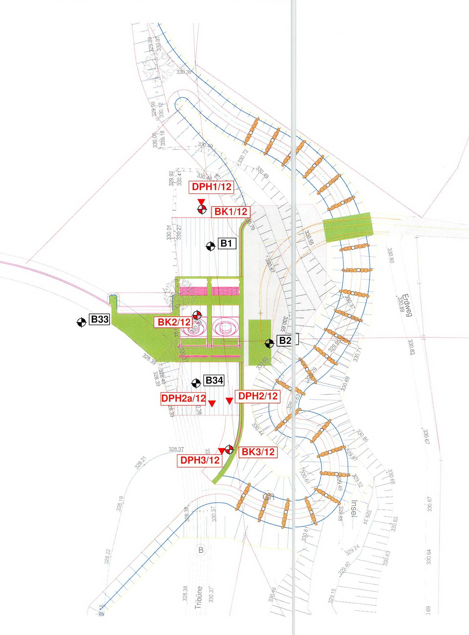 Planzeichnung geplantes Bauvorhaben