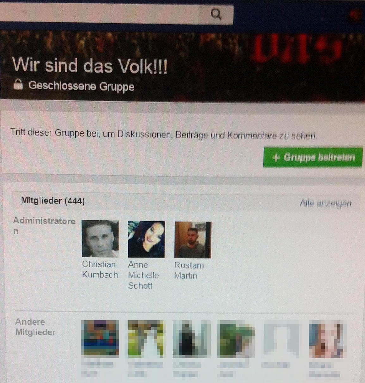 Rühriges Administratoren-Trio: Kumbach, Schott, Martin. Screenshot vom 15.02.16