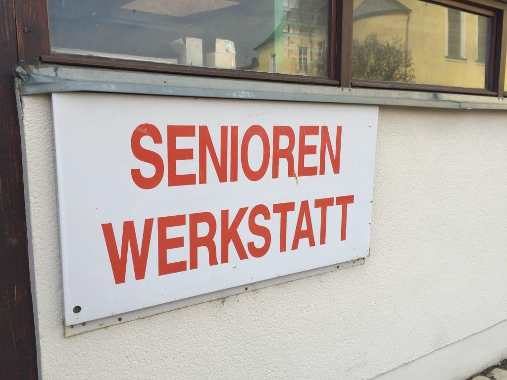 Seit Ende der 80er Jahre gibt es die Seniorenwerkstatt in der Altstadt.