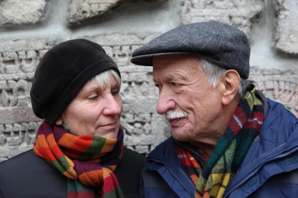 Helga Hanusa und Ernst Grube, 2011 in Izbica; Foto: Paul Huf