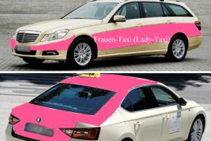 """Wichtig gerade für """"Frauen und junge Frauen"""": pinke Lady-Taxis. Foto: CSB/ Janele"""