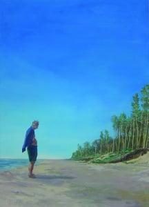 the shore 2016 Oel auf Leinwand 130x90 cm