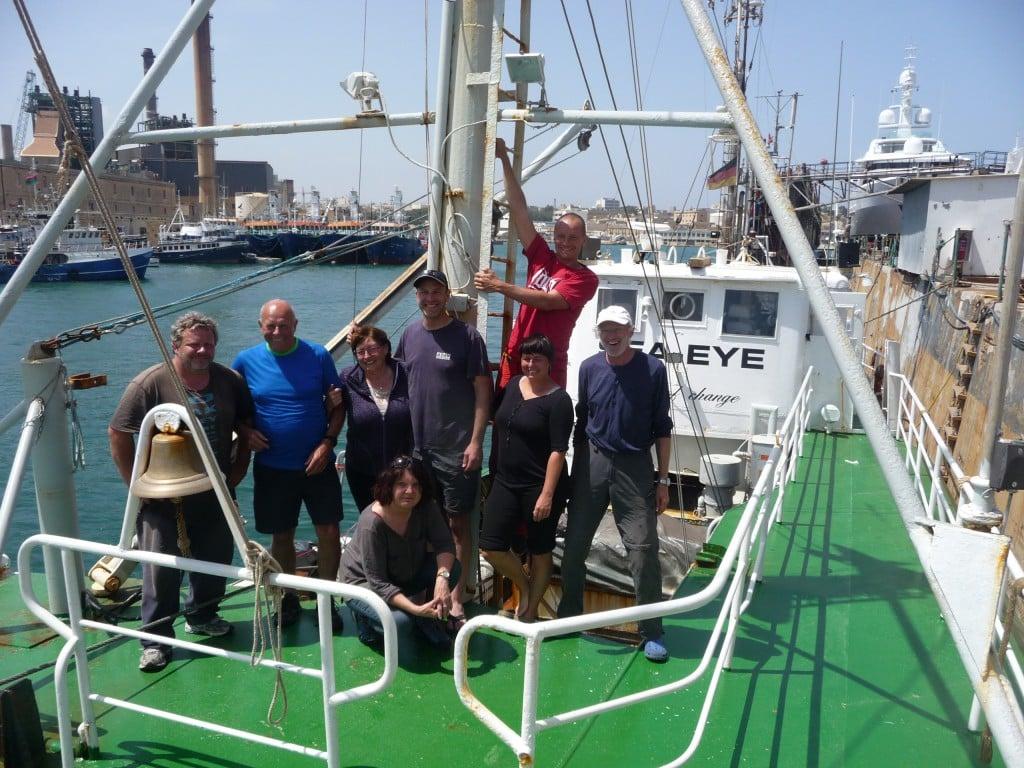 Die Crew der Sea-Eye. Allein im letzten Monat haben sich rund 170 Freiwillige gemeldet.