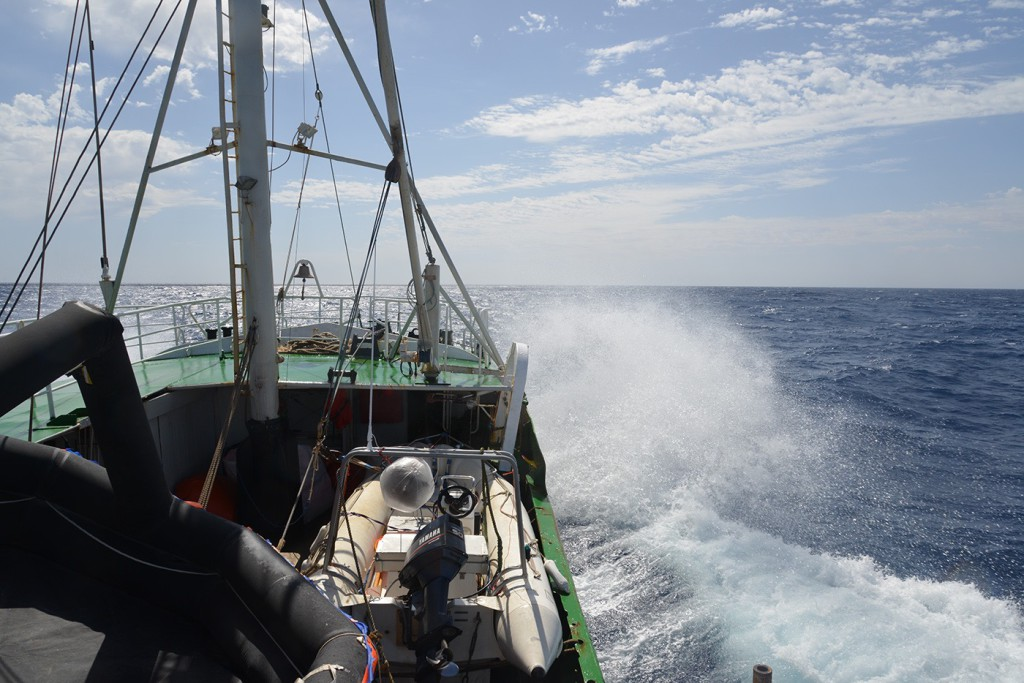 Die Sea-Eye auf hoher See.