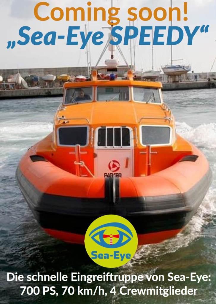 Ein schnelles Boot für Sea-Eye. Foto. sea-eye-org