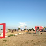 """Kunst im Rahmen"" auf dem Candis Bergfest. Foto: om"