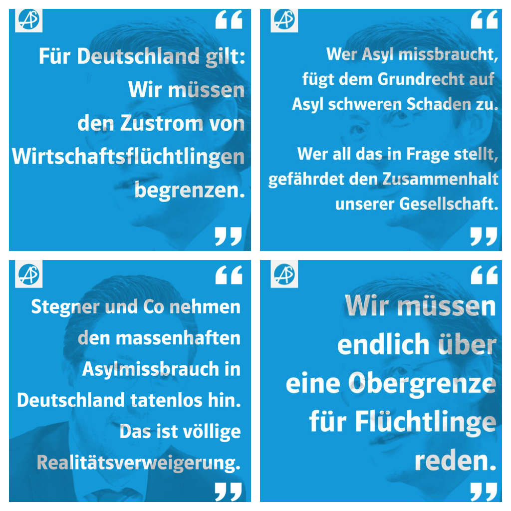 Aus Scheuers Klartextsammlung. Fotos: Facebook / Montage: om.