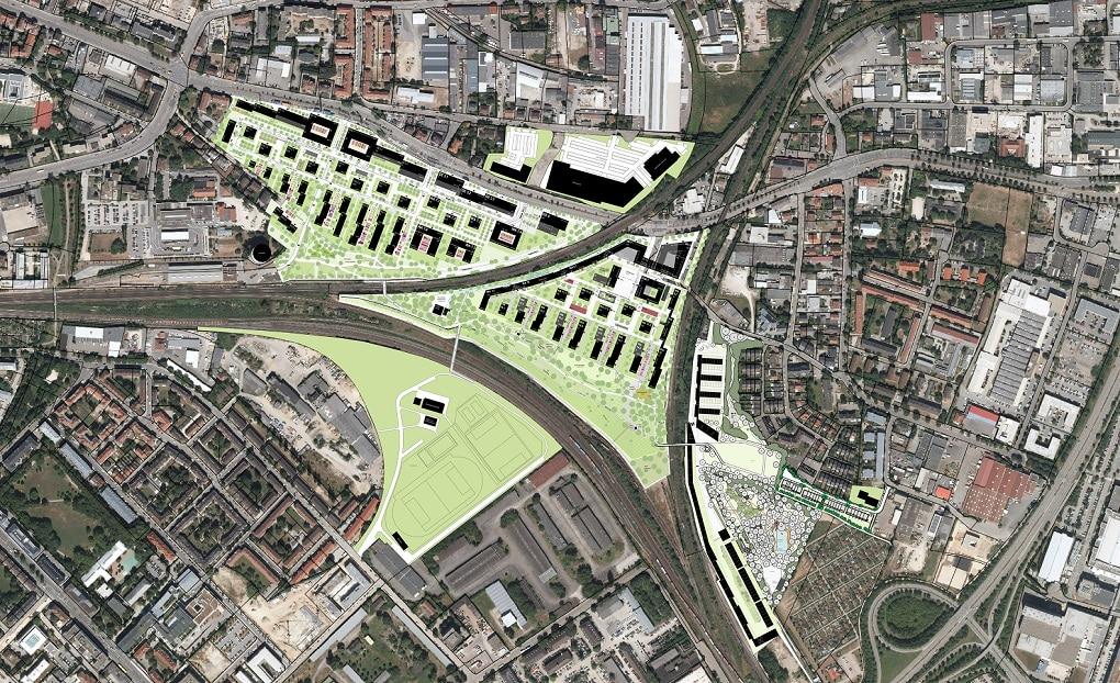 Der Plan zur Gestaltung des Gleisdreiecks und umliegender Gebiete. Foto: Schmack GmbH