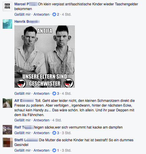 Auszug dem Facebook-Thread der AfD Regensburg. Unter AfD-Sympathisanten sind das keine allzu ausgefallenen Bemerkungen. Foto: Screenshot Facebook