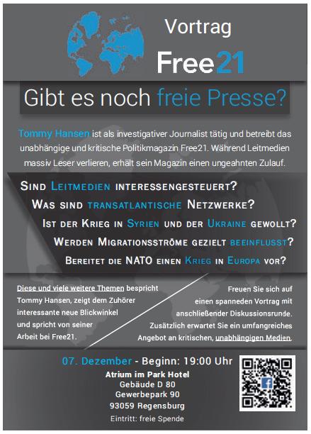 Werbeanzeige zur Veranstaltung im Wochenblatt Regensburg. Foto: om/Screenshot