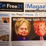Eine gedruckte Ausgabe von Free21. Foto: om