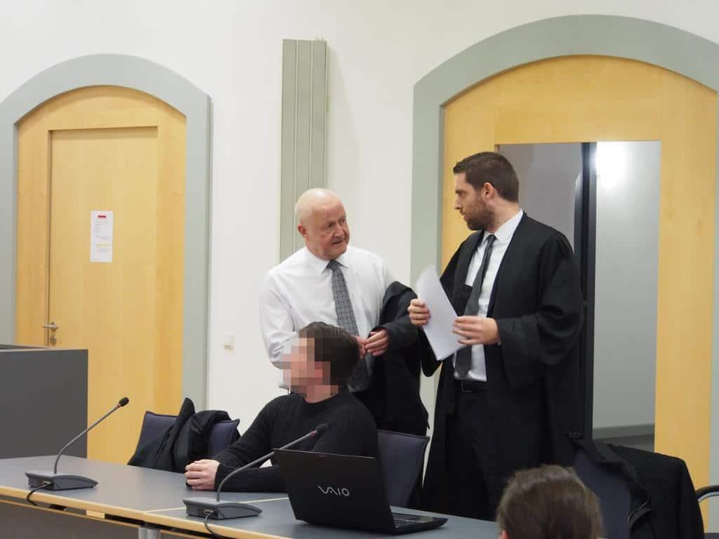 Die Strafverteidiger Michael Haizmann (li.) und Michael Euler attackierten die Opfer ihres Mandanten. Foto: wr