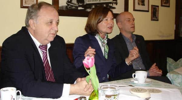 Jahrelang das Führungstrio der Regensburger SPD: Norbert Hartl, Margit Wild, Joachim Wolbergs. Foto: Archiv
