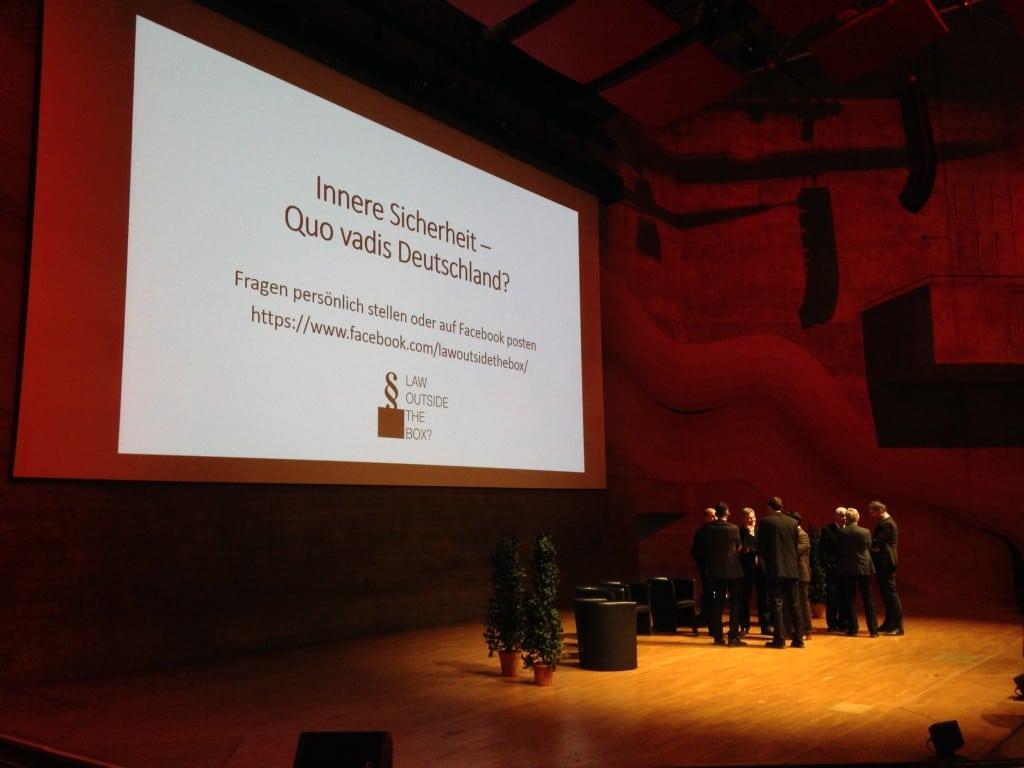 Podiumsdiskussion zu innerer Sicherheit. Mit Joachim Herrmann. Foto: om
