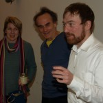 Im Gespräch: Petra Filbeck (BüfA), Harald Klimenta (Attac) und Karl Bär (Umweltinstitut München). Foto: Walter Nowotny