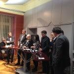 Partei- und Fraktionsspitzen beim PresseClub. Foto: om