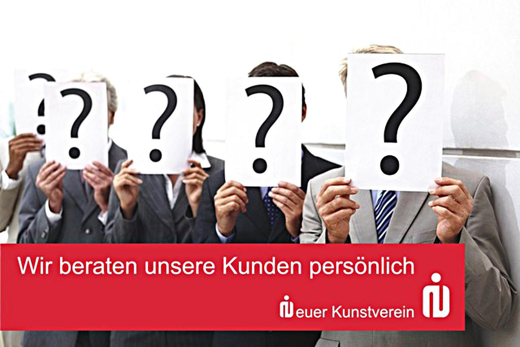 Für die einen ist es Kunst, für die anderen eine treffende Darstellung des Kredit- und Personalausschusses der Sparkasse Regensburg? Foto: Plakat einer Ausstellung von Kurt Fleckenstein beim Neuen Kunstverein 2010