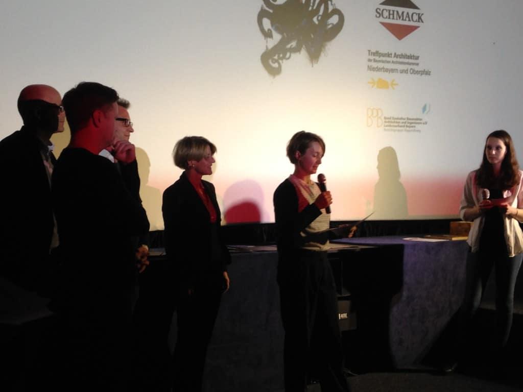 Verleihung des Architekturfilmpreises. Foto: om
