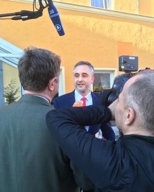 """""""Persönliche Inszenierung zu Lasten der Partei"""": Thomas Burger über Joachim Wolbergs. Foto: as"""