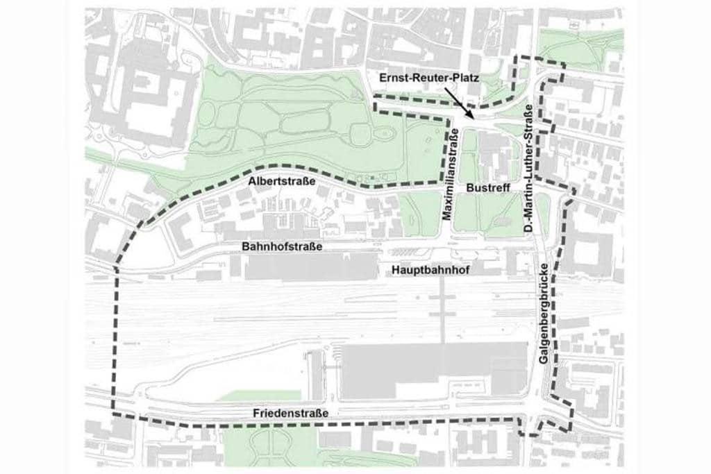 Der Planungsbereich, um den es geht. Grafik: Stadt Regensburg