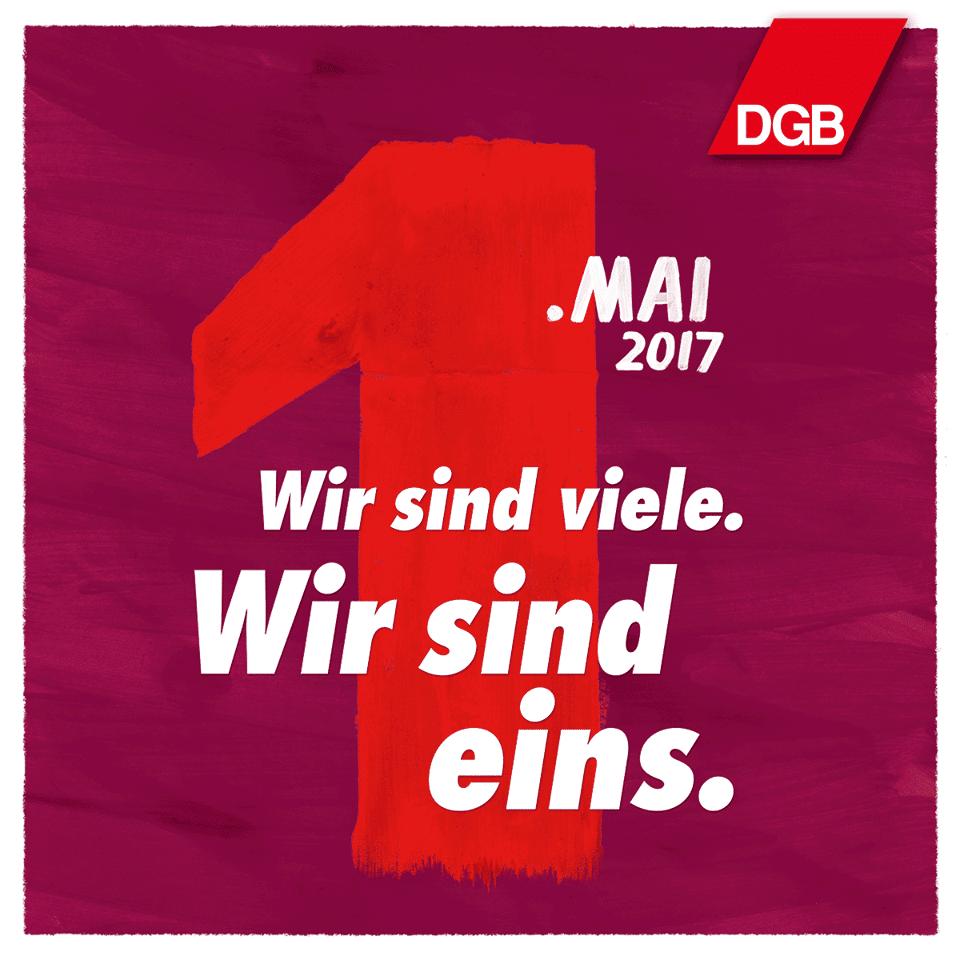 Nicht in Regensburg: Wir sind viele. Wir sind eins. / Foto: DGB