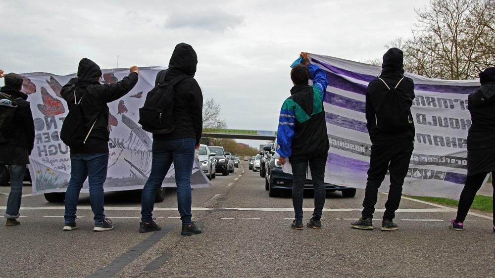 Protest gegen bayerische Abschiebepraxis in Ingolstadt. Foto: