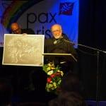 Die beiden Pax-Christi-Preisträger für Zivilcourage. Probst und Clemens Habiger. Foro: wr