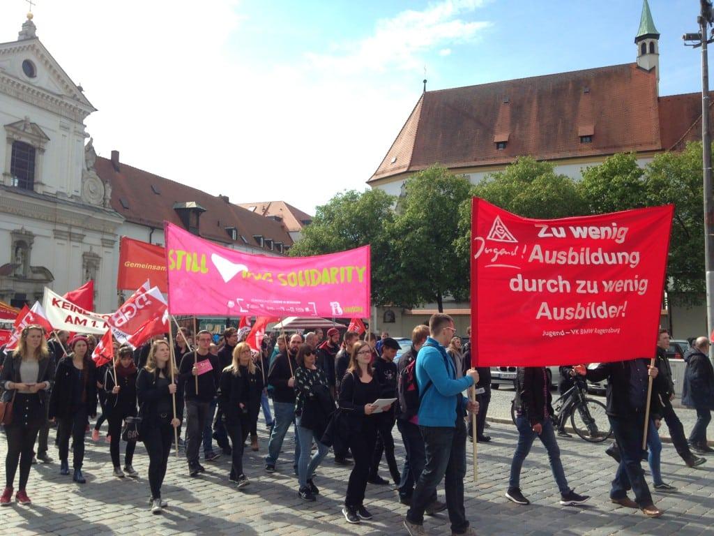 1. Mai in Regensburg: Mit Verstimmungen. Foto: om