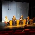 Diskutierten im Theater Regensburg: Rudolf von Bracken, Ebba Hagenberg-Miliu, Meike Sasse, Charlotte Koppenhöfer und Alexander Probst. Foto: rw