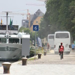 """""""Nicht mehr als 1.500 Kreuzfahrtschiffe pro Jahr"""", verspricht Bürgermeisterin Maltz-Schwarzfischer. Anwohnern in Ostnerwacht und Marina-Quartier ist das zuviel. Foto: Peter Burkes"""