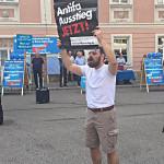 Christian Stahl bei einer AfD-Kundgebung in Regensburg. Foto: Archiv/ as