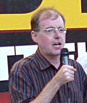 Karl Richter bei einer NPD-Kundgebung in Regensburg. Foto: as/ Archiv