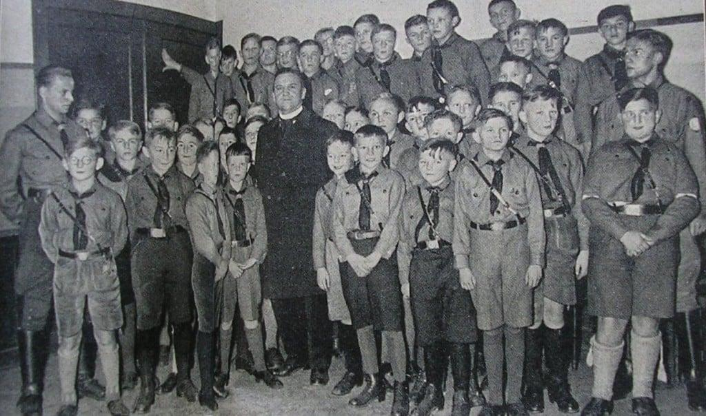 """Theobald Schrems und die """"Domchor-HJ"""" in der Berliner Akademie November 1933. Foto: Privat"""