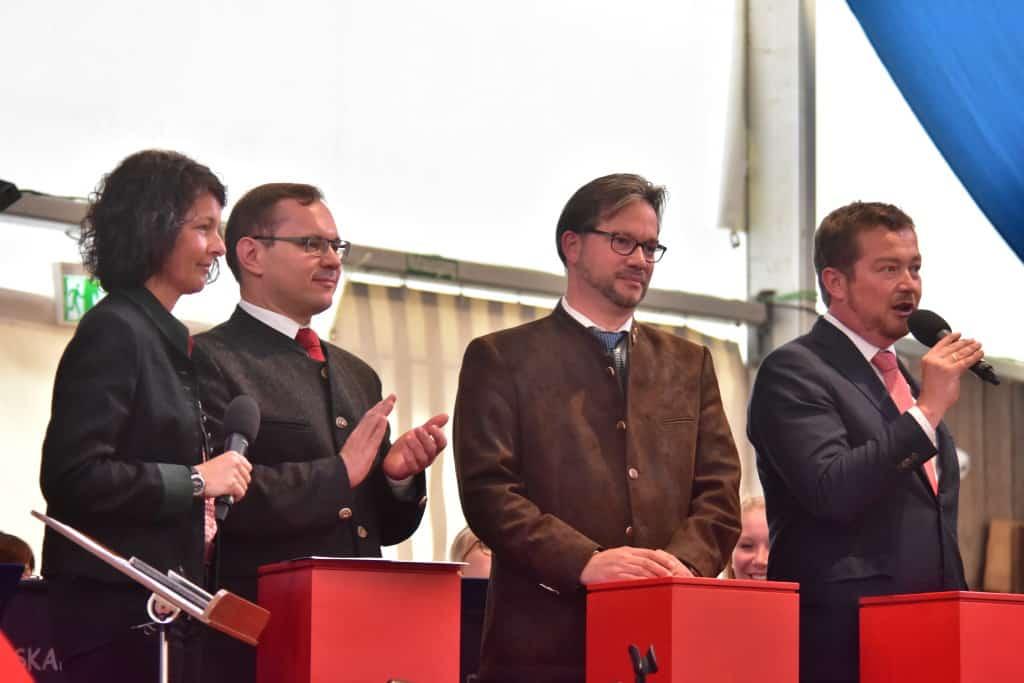 Hammerl, Pronold und Grötsch glauben an Schulz' Kanzlerschaft. Bild: Staudinger