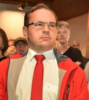 War am Wahlabend mit den Nerven am Ende: Tobias Hammerl. Foto: Staudinger