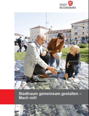 Werbeanzeige der Stadt Regensburg zur Bürgerbefragung.