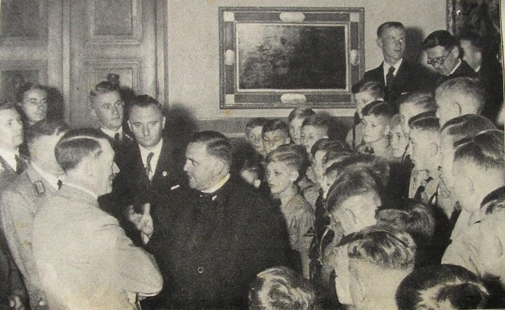Schrems und Hitler 1938 auf dem Obersalzberg. Foto: privat