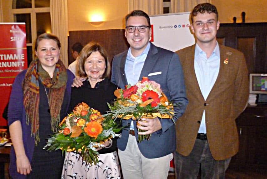 Margit Wild zieht mit Listenkandidatin Carolin Wagner in den landtagswahlkampf, Sebastian Koch bewirbt sich mit Heinrich Kielhorn für den Bezirk.