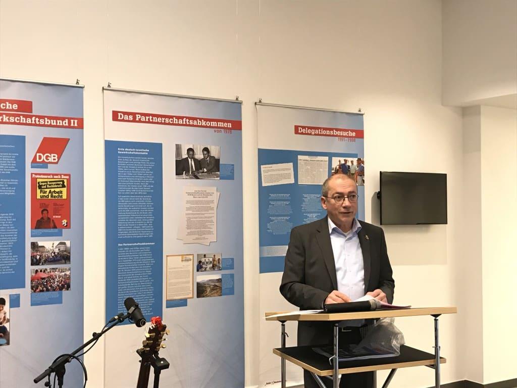 Thomas Rudner betonte gewerkschaftlichen Einsatz gegen Antisemitismus. Bild: om